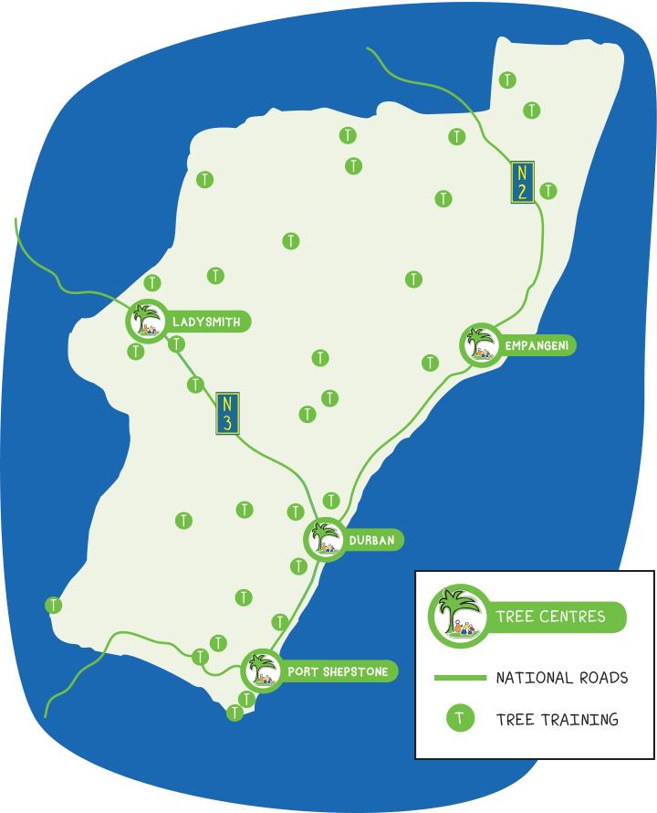 Tree Centre Training Map